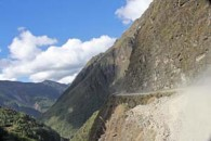 Chulumani death road in Bolivia