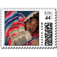 Bolivia baby U.S. postage stamp