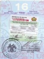 U.S. Bolivia Entry Visa