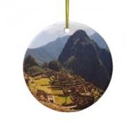 Machu Picchu Chirstmas Ornament