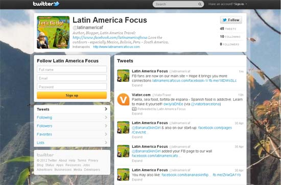 Latin America Focus on Twitter