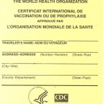 yellow fever certificate card
